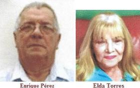 Matrimonio entre expresos políticos cubanos. + Enrique Pérez y Elda Torres.