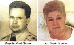 Matrimonio entre expresos políticos cubanos. Rogelio Miro y Luisa B. Ramos