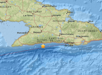 Another earthquake of Cuba's Oriente's South-East Coast