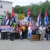 Central Valley, NY. Visita histórica y protesta contra el régimen comunista cubano