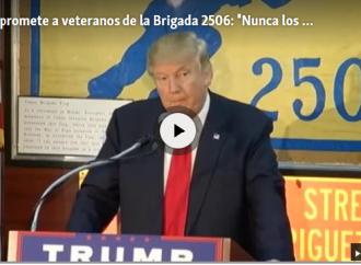 Cubanos veteranos de la Brigada 2506 en la Casa Blanca