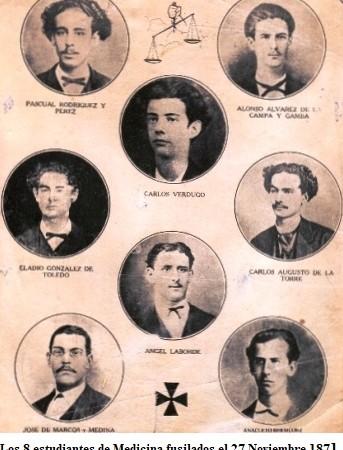 Noviembre 27. Efemérides en la lucha del pueblo cubano por ser libre.